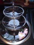 S/steel polished 3-tier cake stand - £3