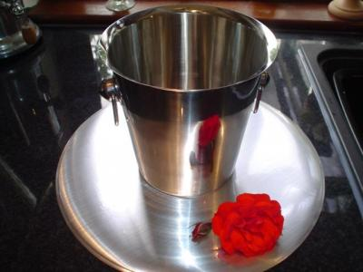 S/steel ice bucket/wine cooler - £1